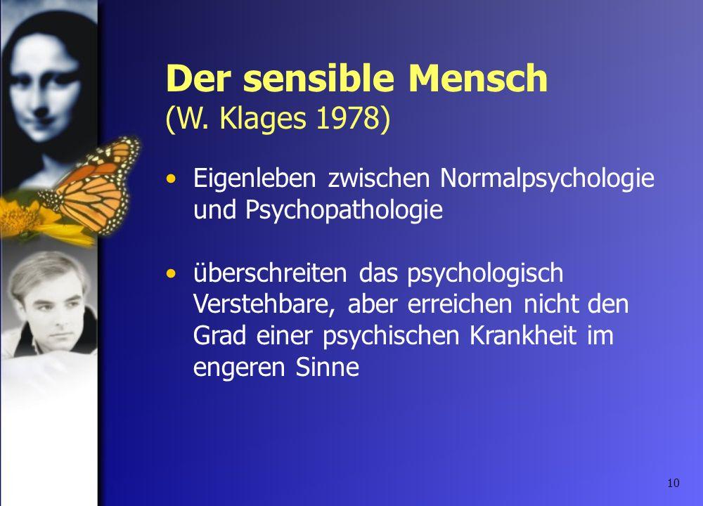 10 Eigenleben zwischen Normalpsychologie und Psychopathologie überschreiten das psychologisch Verstehbare, aber erreichen nicht den Grad einer psychis