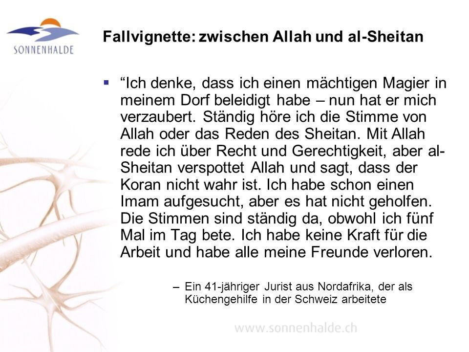 Fallvignette: zwischen Allah und al-Sheitan Ich denke, dass ich einen mächtigen Magier in meinem Dorf beleidigt habe – nun hat er mich verzaubert. Stä