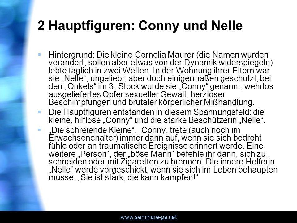 www.seminare-ps.net Dissoziation, Amnesie Eine weitere Figur, Frau Mahrer übernehme die Arbeit im Büro, sodaß sie nach außen funktioniere.