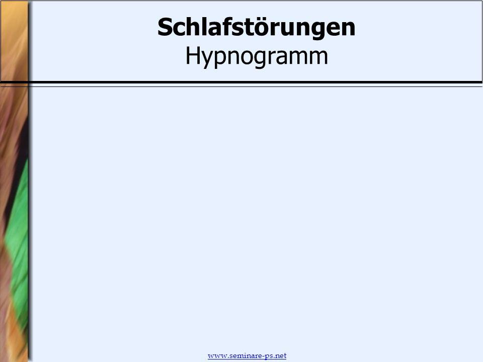www.seminare-ps.net Schlafstörungen Hypnogramm
