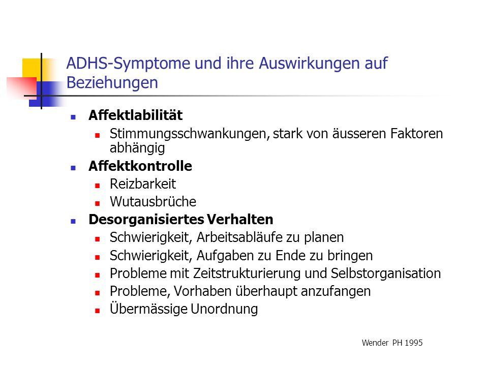 Zusammenfassung Die Beziehungsprobleme bei ADHS finden sich vor allem bei der Arbeit, in den Partnerschaften und der Erziehung der Kinder.