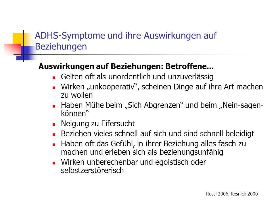 Literaturverzeichnis II Wender PH (1995); Attention-deficit hyperactivity disorder in adults.