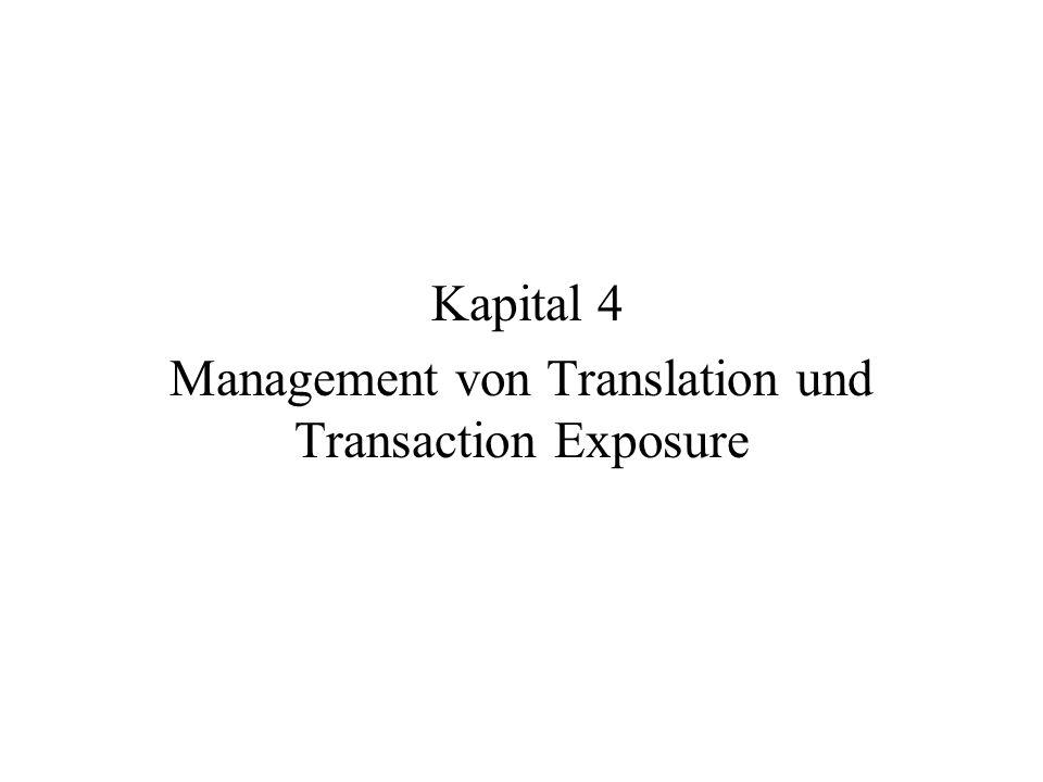2 Einführung Zunehmende Internationalisierung der UN und Geschaeftsbeziehungen => Wechselkursrisiken nehmen zu Management und Ueberwachung dieser Risiken gewinnt an Bedeutung Mit Exposuer bezeichnet man die Auswirkungen von Wechselkursaenderungen auf eine Unternehmung Dies kann auf verschiedene Art and Weisen gemessen werden => liefert auch eine Systematik der Auswirkungen Messmethode haengt von Zweck und Perspective ab (Rechungslegung, Finanzen) Heding bedeutet Transaktionen, mit denen man Wechselkursrisiken beseitigen (verringern) kann