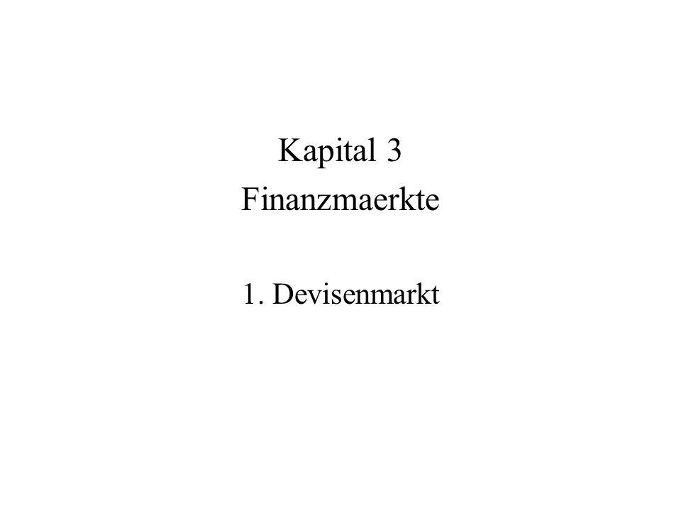 Kapital 3 Finanzmaerkte 1. Devisenmarkt