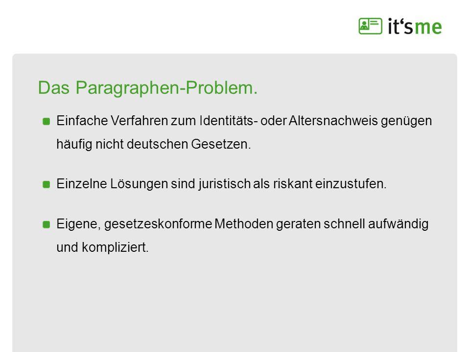 Das Paragraphen-Problem. Einfache Verfahren zum Identitäts- oder Altersnachweis genügen häufig nicht deutschen Gesetzen. Einzelne Lösungen sind jurist