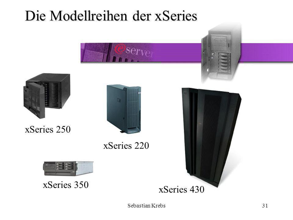 Sebastian Krebs31 Die Modellreihen der xSeries xSeries 250 xSeries 220 xSeries 430 xSeries 350