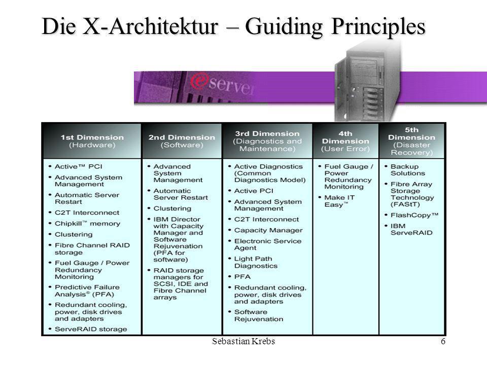 Sebastian Krebs47 xSeries im Einsatz von SAP R/3 Folgende Module im SAP R/3 sollen für 150 User laufen: –FI –CO –AA –MM –SD –PP –HR