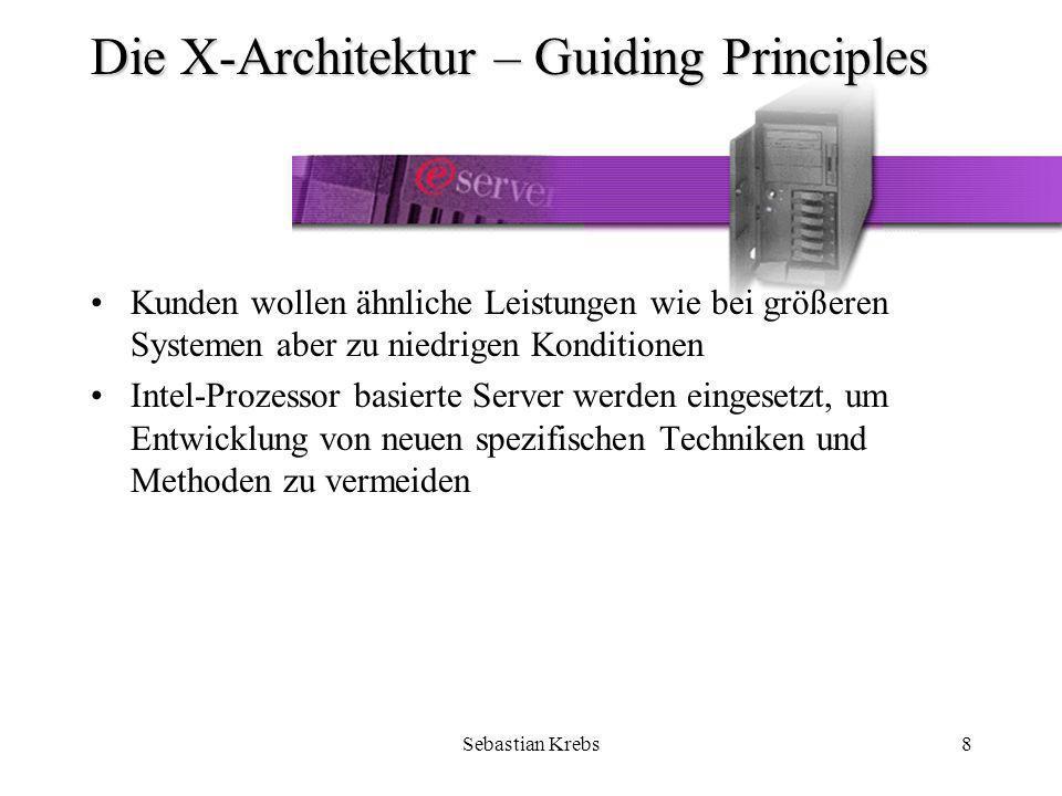 Sebastian Krebs39 Das Model xSeries 250 im Detail – Hochverfügbarkeit/Sicherheit Verschiedenste Soft- und Hardware Tools der OnForever Initiative sorgen dafür, das weder Software noch Hardware beim xSeries 250 Server ihre Arbeit verweigern »Siehe auch Die X-Architektur – Guiding PrinciplesDie X-Architektur – Guiding Principles »Siehe auch Die X-Architektur – AvailabilityDie X-Architektur – Availability