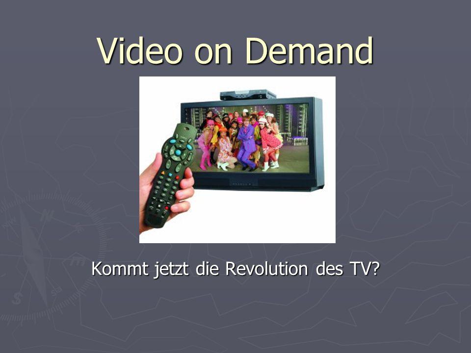 Gliederung: Video-on-Demand Das Ur-Konzept Das Ur-Konzept Entwicklungsetappen Entwicklungsetappen Pilotprojekte und ihr Scheitern (TV) Pilotprojekte und ihr Scheitern (TV) Das Mysterium Verbraucher Das Mysterium Verbraucher Alternative VoD-Konzepte (Internet) Alternative VoD-Konzepte (Internet) Physisches VoD Physisches VoD Körperloses VoD Körperloses VoD Fazit Fazit