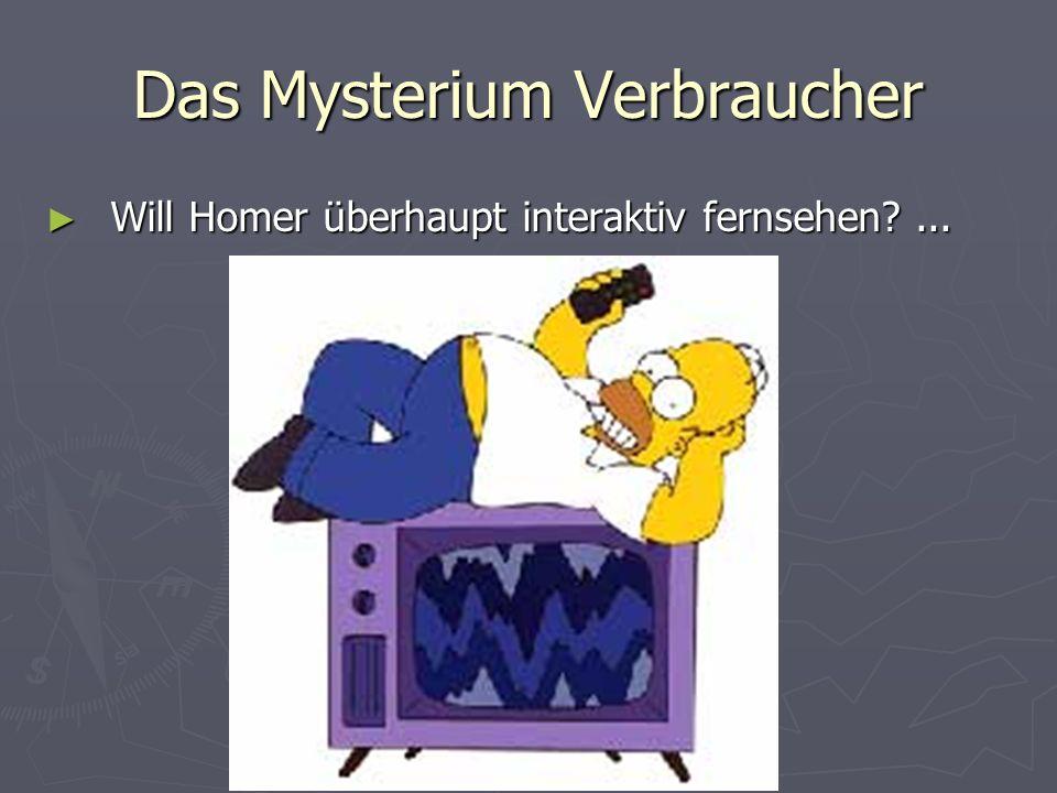 Das Mysterium Verbraucher Will Homer überhaupt interaktiv fernsehen?...
