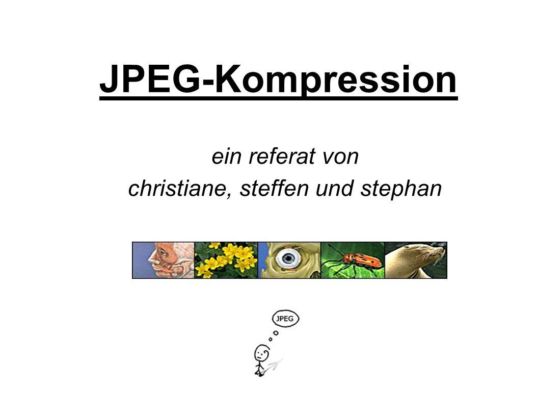 JPEG-Kompression ein referat von christiane, steffen und stephan
