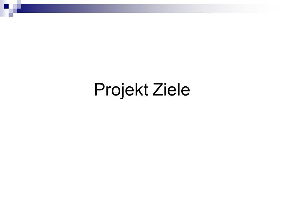 Projekt Ziele