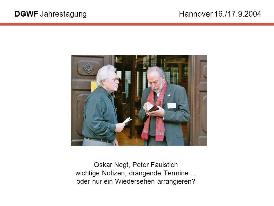 Oskar Negt, Peter Faulstich wichtige Notizen, drängende Termine...