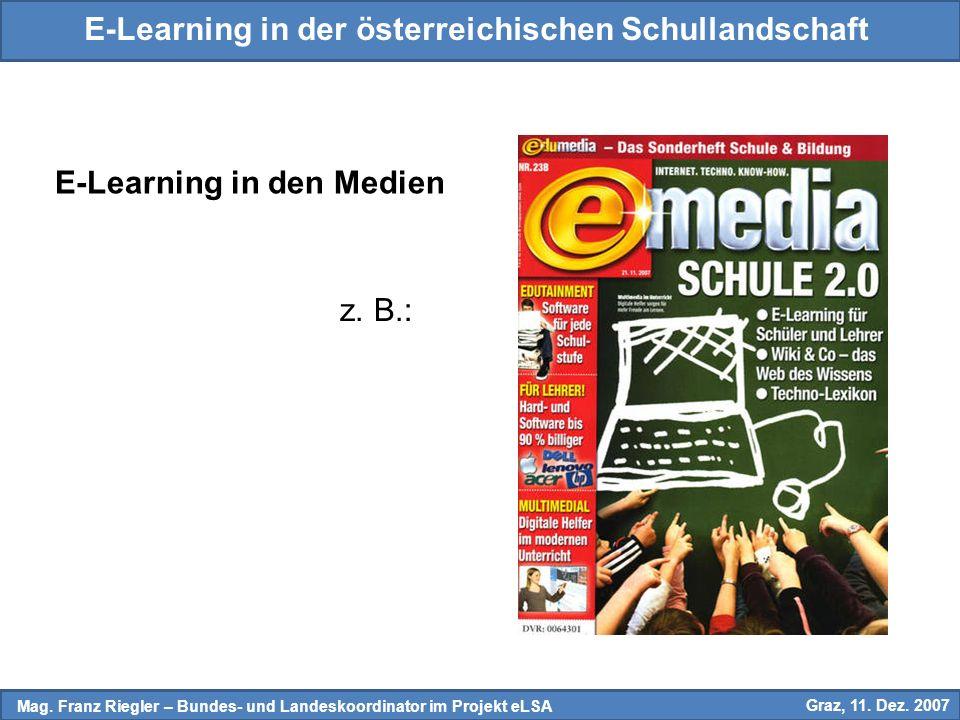 E-Learning in der österreichischen Schullandschaft Mag.
