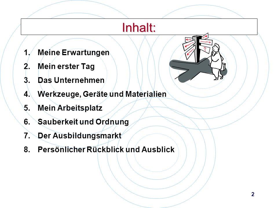 1 Die Präsentation des Praktikums Die Form: Übersichtliche Folien Wesentliche Aussagen Bilder veranschaulichen den Text Vollständige Bearbeitung Klare