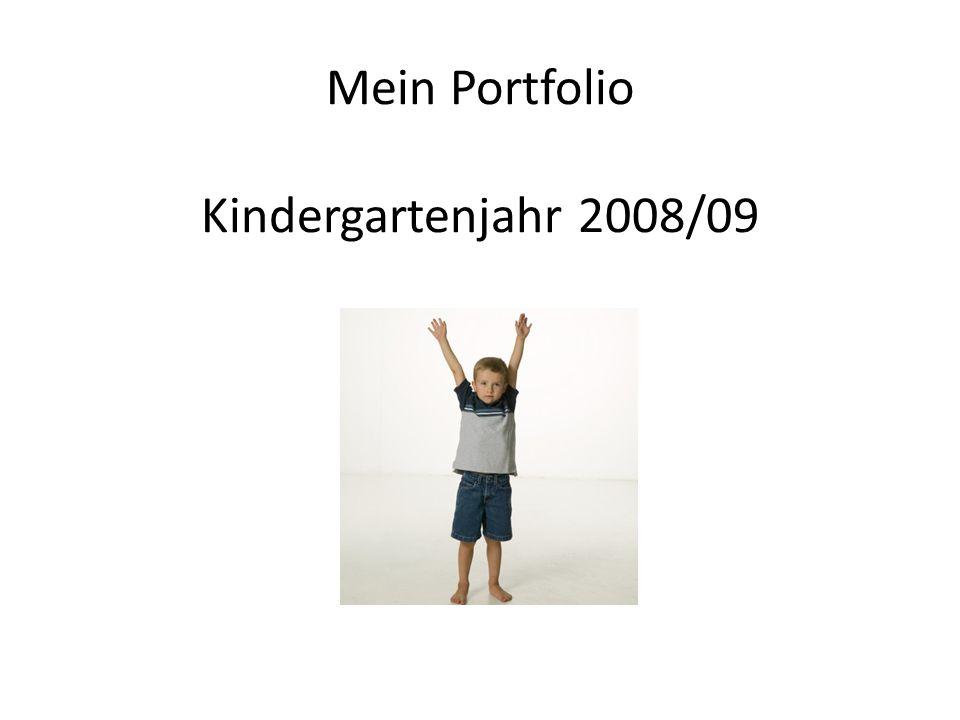 Mein Portfolio Kindergartenjahr 2008/09