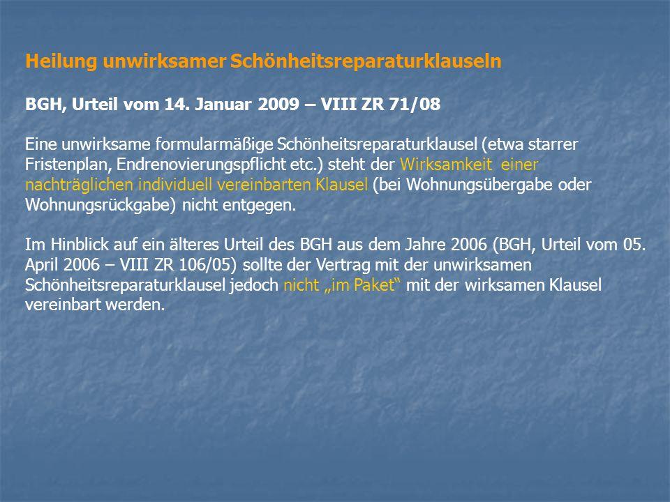 Beseitigung baulicher Veränderungen OLG Köln, Beschluss vom 3.