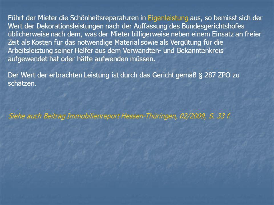 Teppichgrundreinigung BGH, Urteil vom 08.