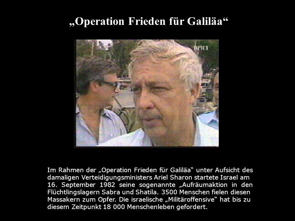 Im Rahmen der Operation Frieden für Galiläa unter Aufsicht des damaligen Verteidigungsministers Ariel Sharon startete Israel am Operation Frieden für