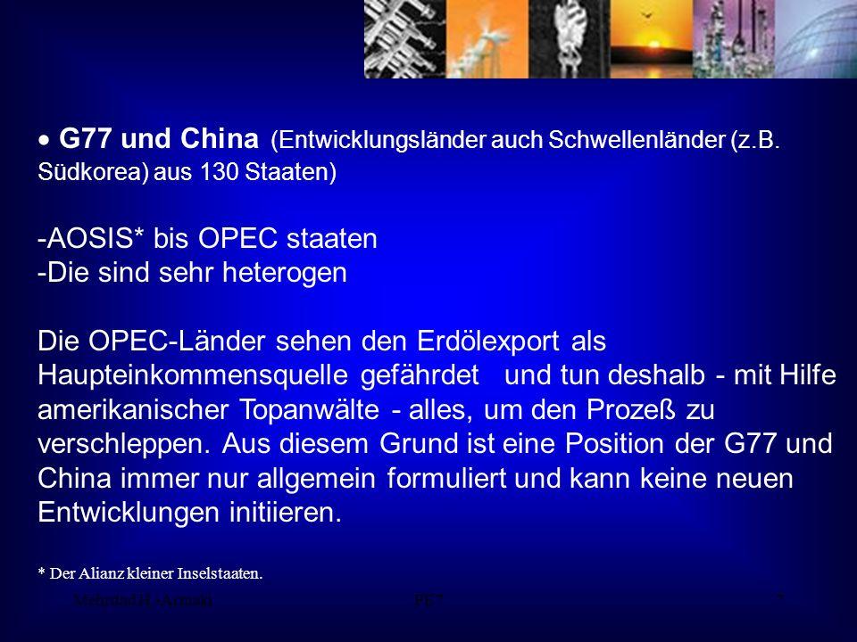 Mehrdad H.-ArmakiPE77 G77 und China (Entwicklungsländer auch Schwellenländer (z.B.