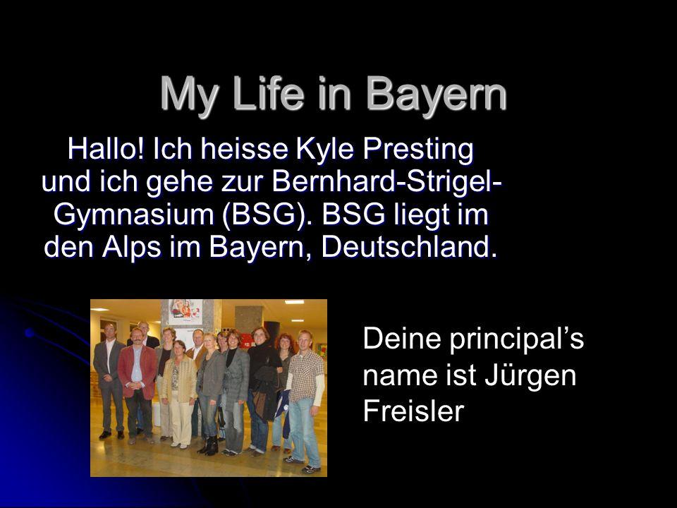 My Life in Bayern Hallo.