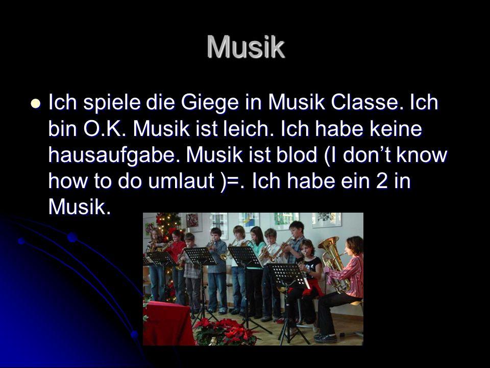 Musik Ich spiele die Giege in Musik Classe.Ich bin O.K.