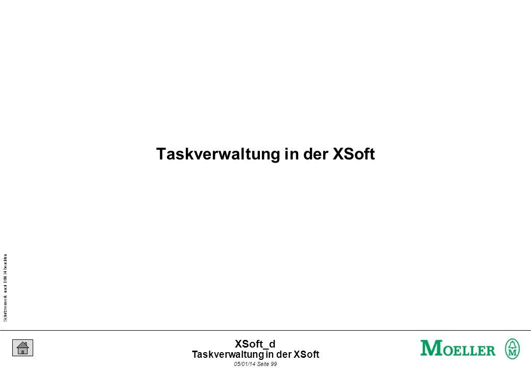 Schutzvermerk nach DIN 34 beachten 05/01/14 Seite 99 XSoft_d Taskverwaltung in der XSoft
