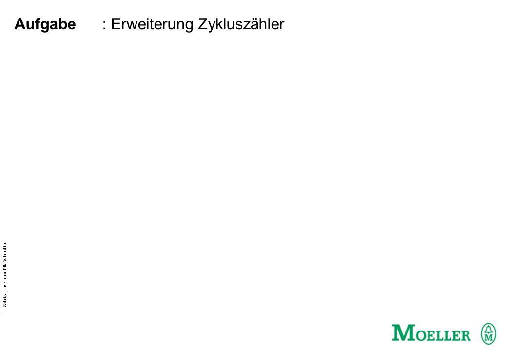 Schutzvermerk nach DIN 34 beachten : Erweiterung Zykluszähler Aufgabe