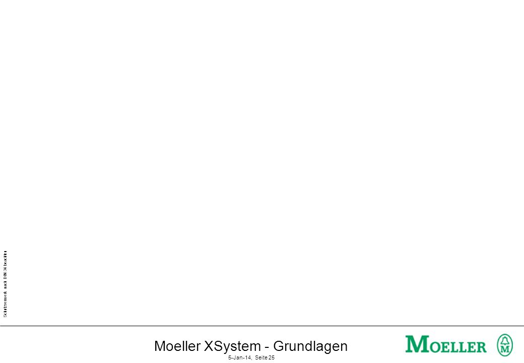 Schutzvermerk nach DIN 34 beachten Moeller XSystem - Grundlagen 5-Jan-14, Seite 24 Diagnose der Buskommunikation