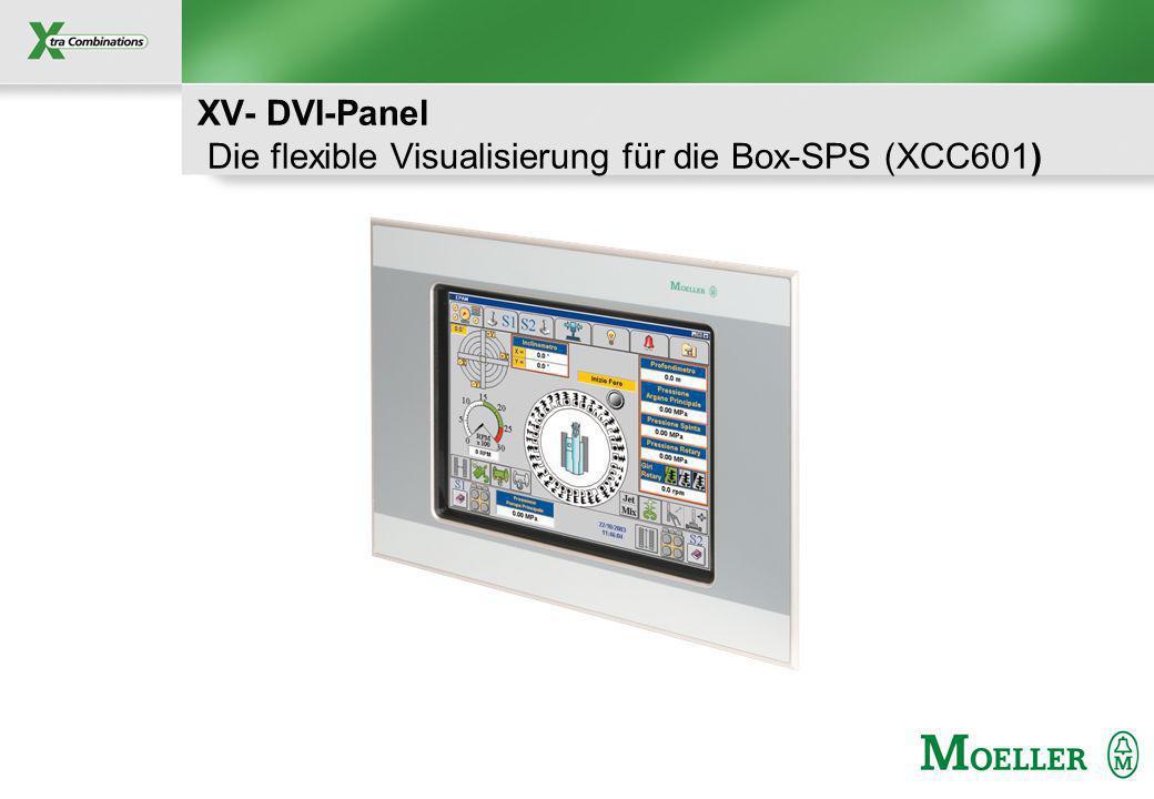 Schutzvermerk nach DIN 34 beachten XV- DVI-Panel Die flexible Visualisierung für die Box-SPS (XCC601)