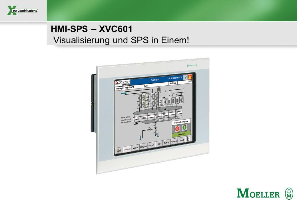 Schutzvermerk nach DIN 34 beachten HMI-SPS – XVC601 Visualisierung und SPS in Einem!