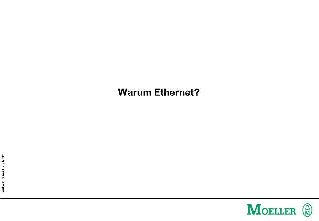 Schutzvermerk nach DIN 34 beachten Warum Ethernet