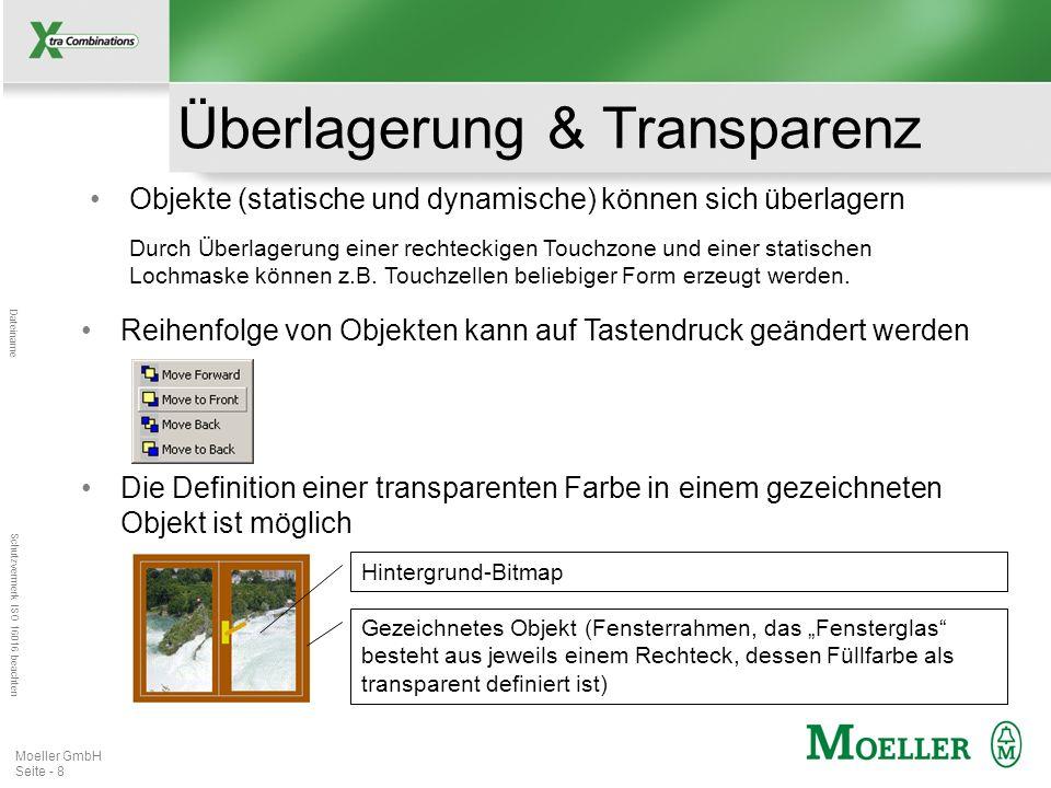 Mastertitelformat bearbeiten Dateiname Schutzvermerk ISO 16016 beachten Moeller GmbH Seite - 8 Überlagerung & Transparenz Objekte (statische und dynam
