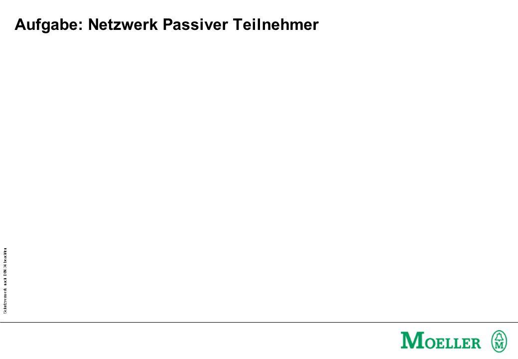 Schutzvermerk nach DIN 34 beachten Aufgabe: Netzwerk Passiver Teilnehmer