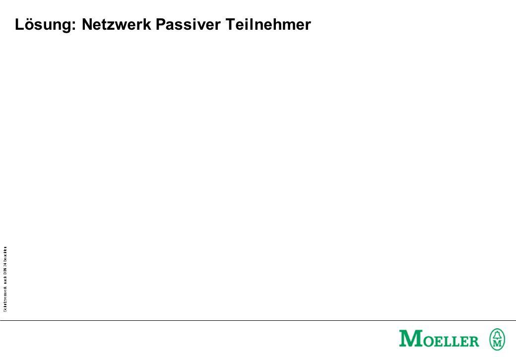 Schutzvermerk nach DIN 34 beachten Information: Netzwerk Passiver Teilnehmer