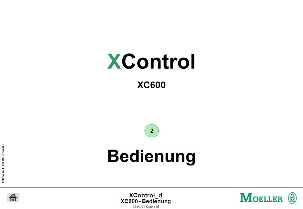 Schutzvermerk nach DIN 34 beachten 05/01/14 Seite 114 XControl_d Moeller- Netzwerk Aufgabe : Erstellen Sie eine Verbindung zwischen dem PC und dem XC6