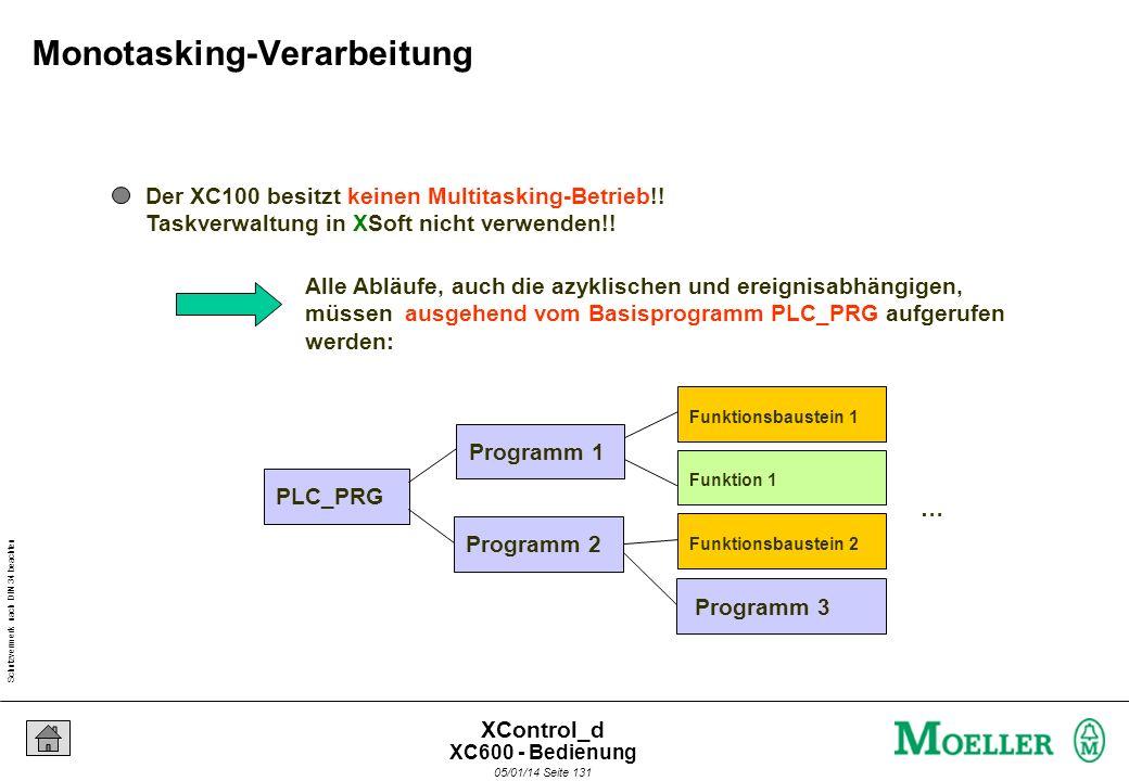 Schutzvermerk nach DIN 34 beachten 05/01/14 Seite 130 XControl_d Multi-Media-Karte - Bootprojekt erzeugen CPU Arbeitsspeicher SRAM RS 232 Batterie SRA