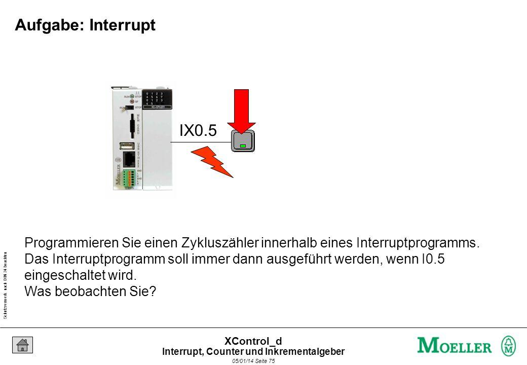 Schutzvermerk nach DIN 34 beachten 05/01/14 Seite 74 XControl_d Und was passiert bei gleichzeitigem Auftreten der Interrupts? Interrupt 3 Interrupt 2