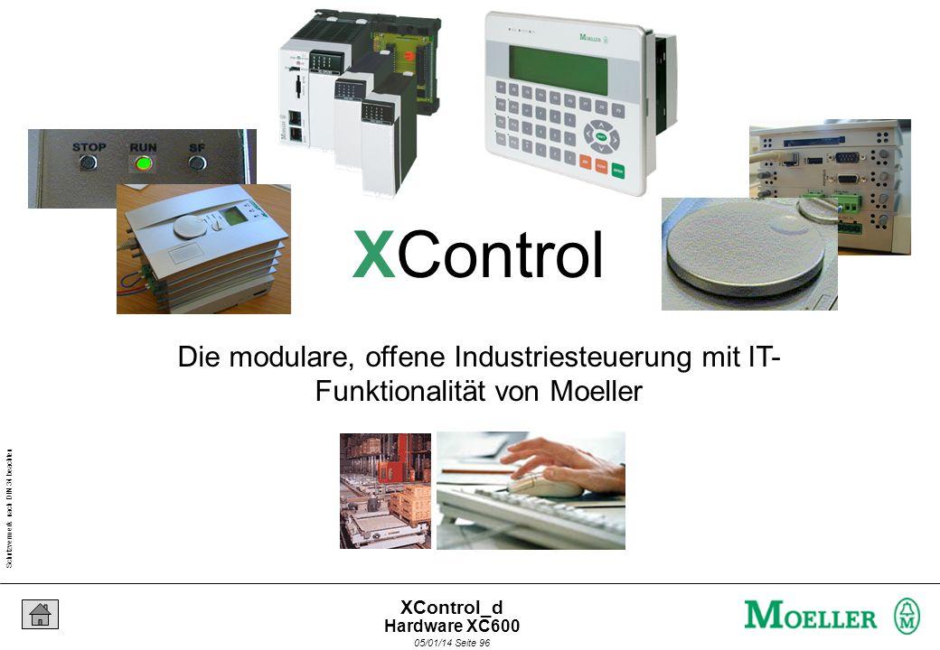 Schutzvermerk nach DIN 34 beachten 05/01/14 Seite 95 XControl_d Hardware XC600