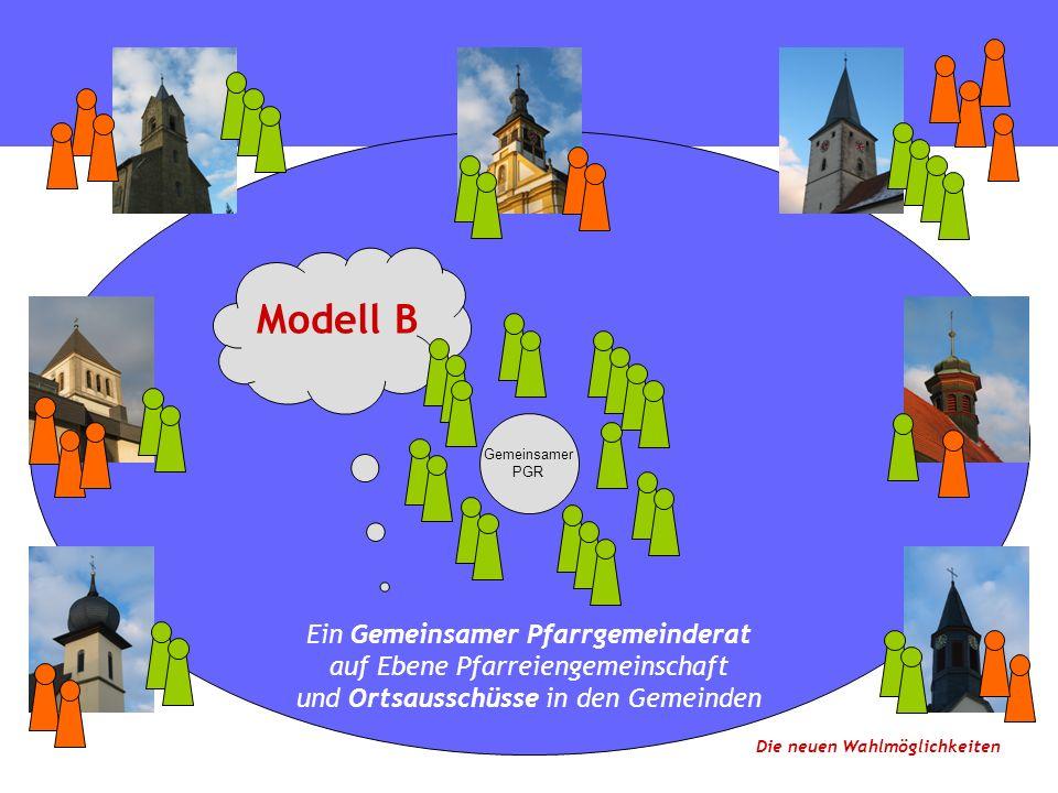 Gemeinsamer PGR Ein Gemeinsamer Pfarrgemeinderat auf Ebene Pfarreiengemeinschaft und Ortsausschüsse in den Gemeinden Modell B Die neuen Wahlmöglichkeiten