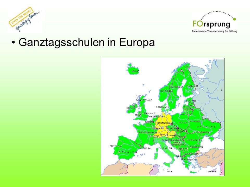 Ganztagsschulen in Europa Ganztagsschulen in Europa
