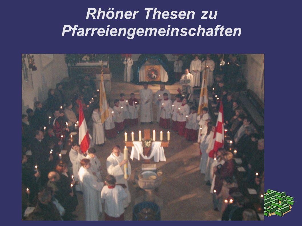 Rhöner Thesen zu Pfarreiengemeinschaften
