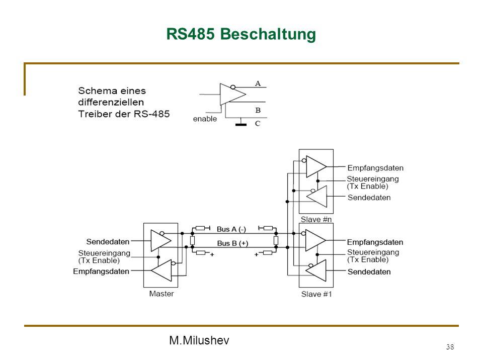 M.Milushev 38 RS485 Beschaltung