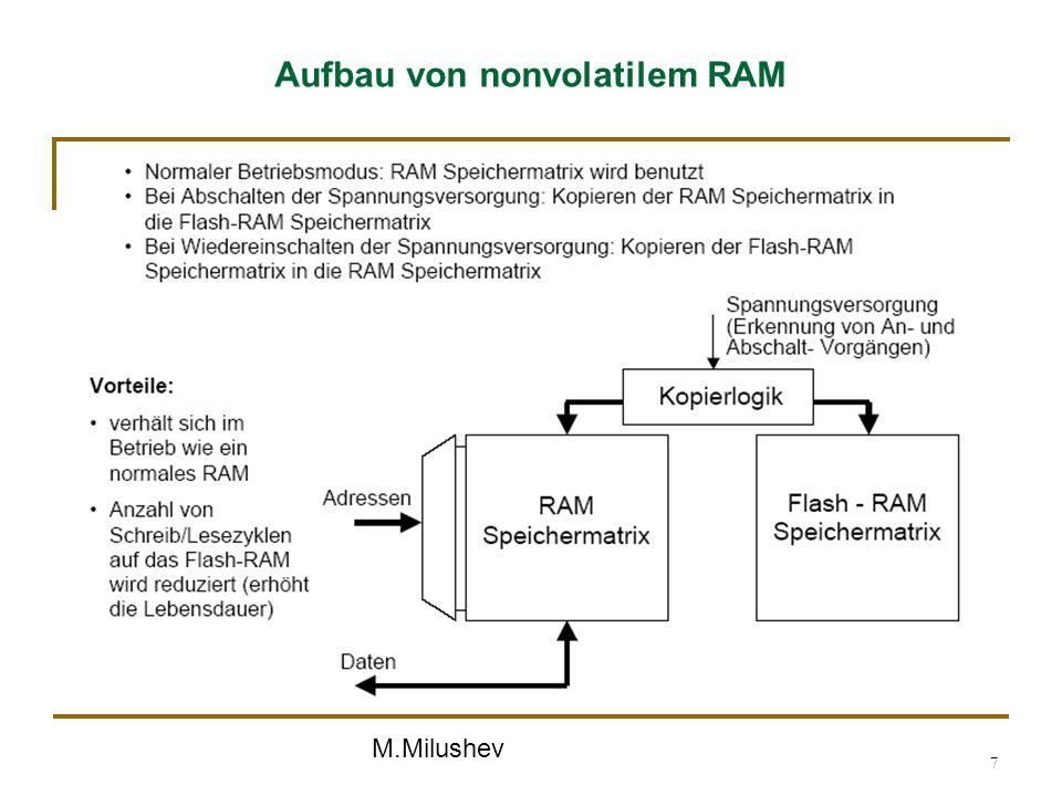 M.Milushev 7 Aufbau von nonvolatilem RAM