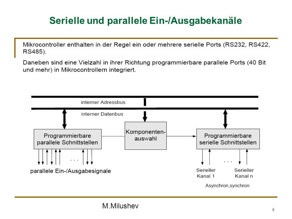 M.Milushev 9 Serielle und parallele Ein-/Ausgabekanäle