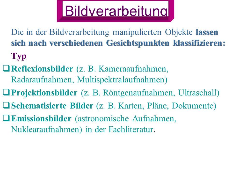 nach Codierung Rasterbilder Rasterbilder (z.B.