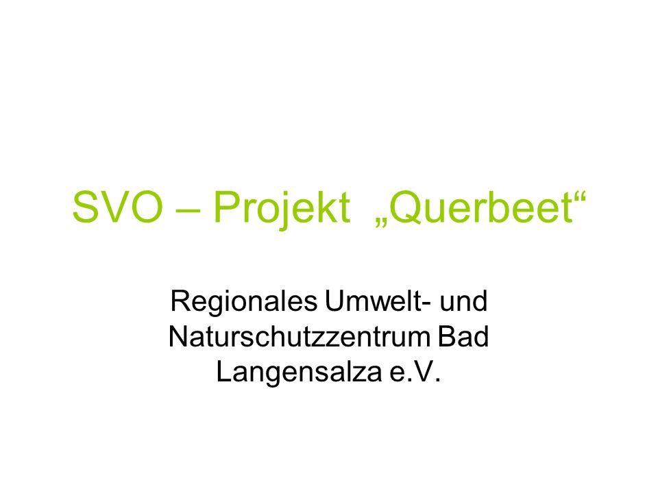 SVO – Projekt Querbeet Regionales Umwelt- und Naturschutzzentrum Bad Langensalza e.V.