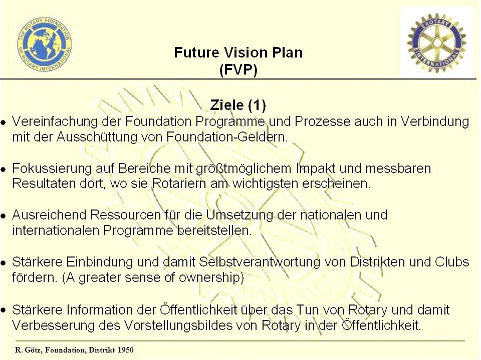 R.Götz, Foundation, Distrikt 1950 Rotary-Distrikt 1950 Entw.