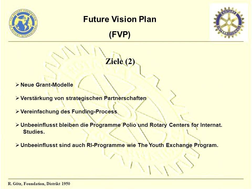 Future Vision Plan (FVP) Neue Grant-Modelle Verstärkung von strategischen Partnerschaften Vereinfachung des Funding-Process Unbeeinflusst bleiben die