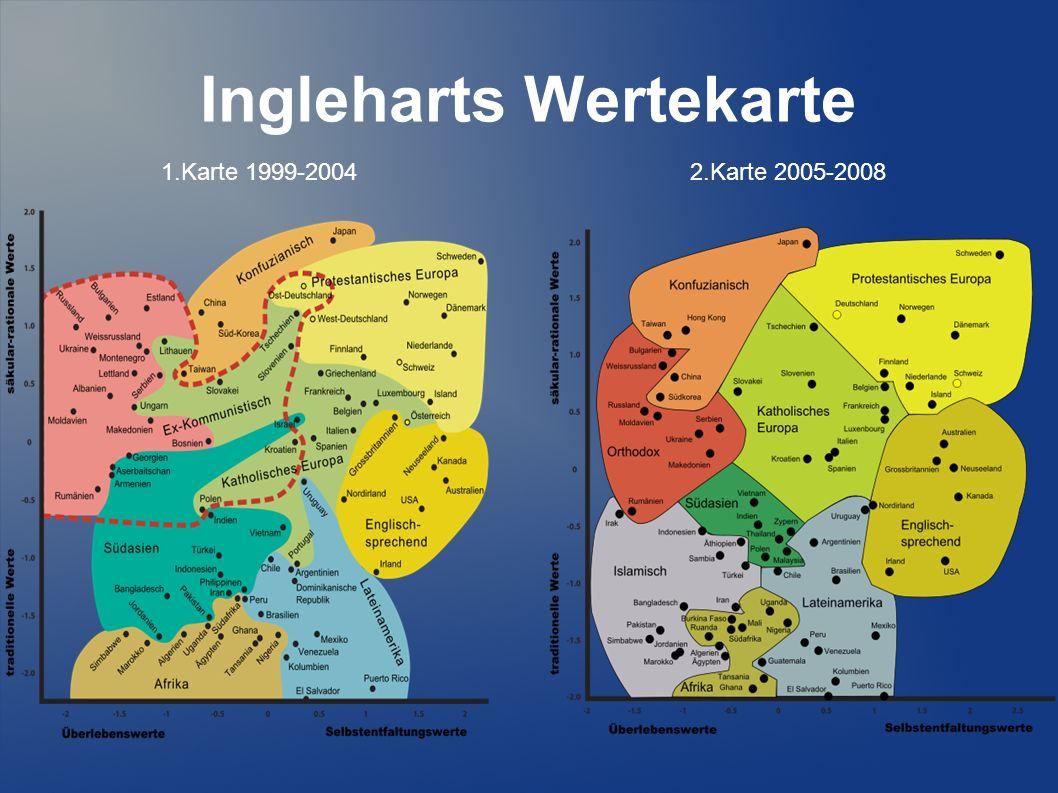 Ingleharts Wertekarte 1.Karte 1999-20042.Karte 2005-2008